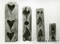 moules à sucre en forme de coeur