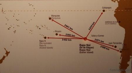 Île de Pâques distances
